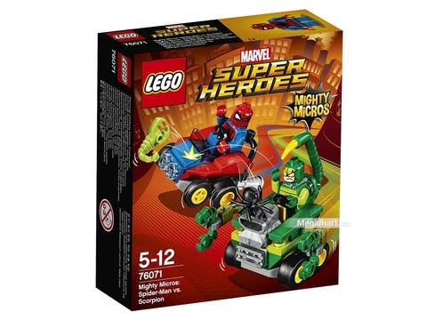 Hình ảnh vỏ hộp bộ Lego Super Heroes 76071 - Người nhện đại chiến Scorpion