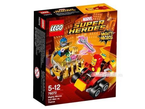 Hình ảnh vỏ hộp bộ Lego Super Heroes 76072 - Người sắt đại chiến Thanos