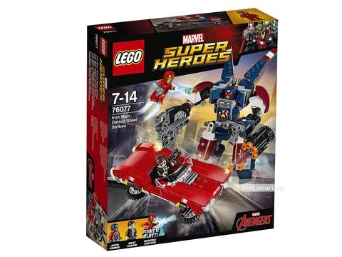 Hình ảnh vỏ ngoài của sản phẩm Lego Super Heroes 76077 - Iron Man Detroit Steel trỗi dậy