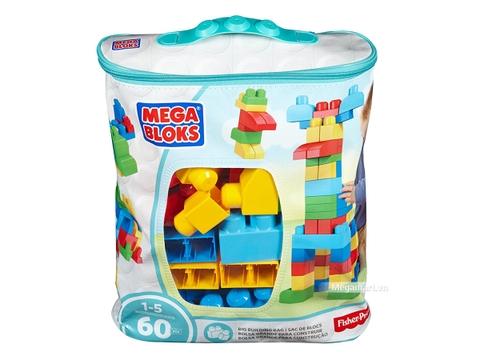 Hình ảnh vỏ hộp bộ Mega Bloks Xếp khối cơ bản túi lớn (60 khối)