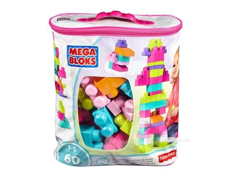 Hình ảnh vỏ hộp bộ Mega Bloks Xếp khối cơ bản túi lớn hồng (60 khối)