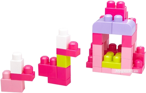 Các mô hình ấn tượng trong bộ Mega Bloks Xếp khối cơ bản túi lớn hồng (60 khối)