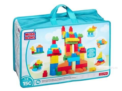 Hình ảnh vỏ hộp bộ Mega Bloks Xếp khối nâng cao túi lớn (150 khối)