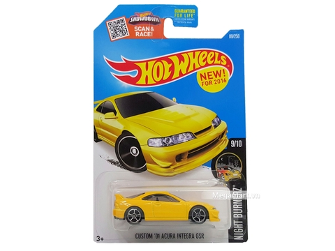 Hình ảnh vỏ sản phẩm siêu xe mô hình Hot Wheels Custom '01 Acura Integra GSR