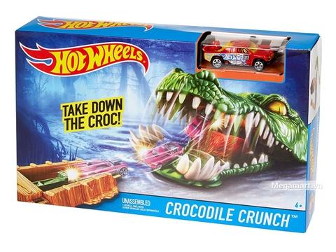 Hình ảnh vỏ hộp bộ Hot Wheels Đầm lầy cá sấu