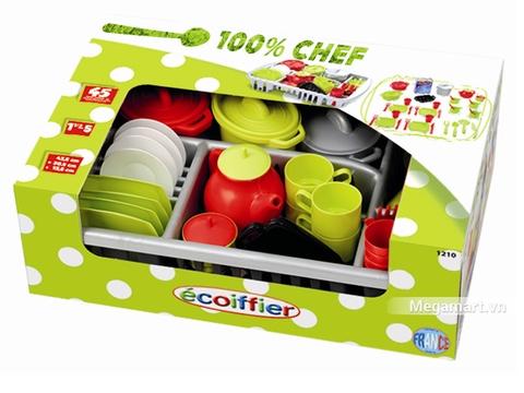 Hình ảnh vỏ hộp bộ Ecoiffier Bộ dụng cụ nhà bếp (45 món)