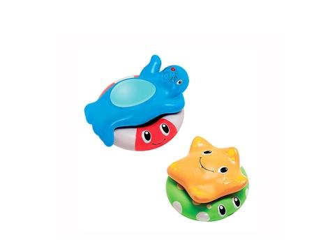 Trọn bộ các chi tiết có trong đồ chơi Munchkin Đồ chơi phun nước phao tắm và sinh vật biển