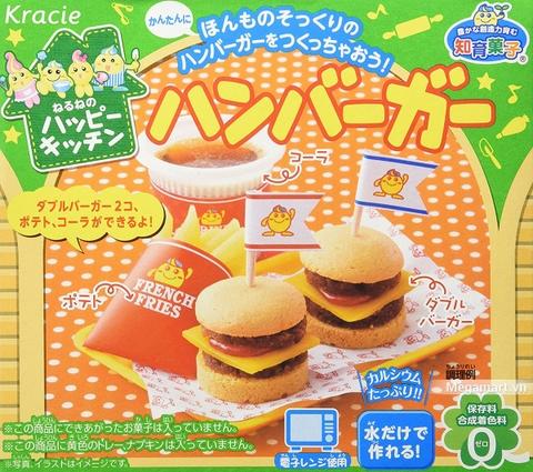 Đồ chơi nấu ăn Popin Cookin làm Hamburger - đồ chơi nấu ăn Nhật Bản