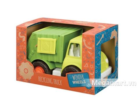 Hình ảnh vỏ hộp sản phẩm xe mô hình Battat xe môi trường cho trẻ sơ sinh