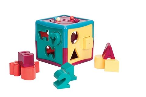 Battat Đồ chơi hình khối vui nhộn (12 khối màu sắc) giúp bé nhận biết nhanh con số, chữ cái, hình khối