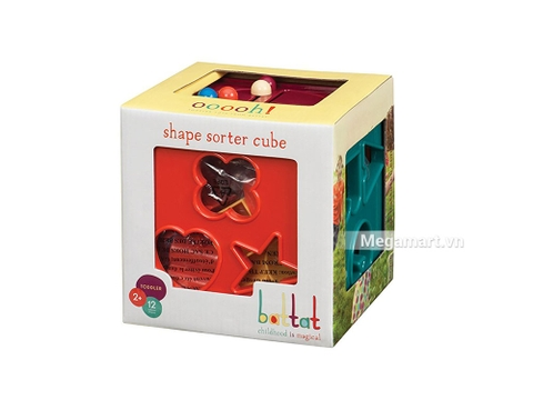 Hình ảnh vỏ hộp bộ Battat Đồ chơi hình khối vui nhộn (12 khối màu sắc)