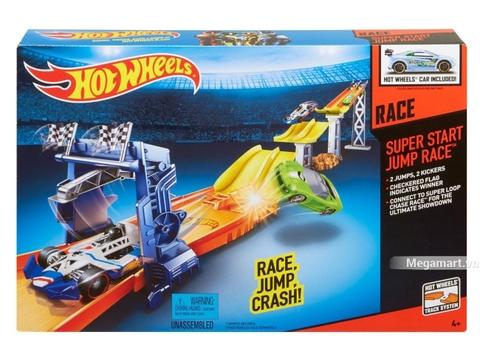 Hình ảnh vỏ hộp bộ Hot Wheels Cuộc đua bước nhảy
