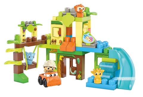 Các mô hình ấn tượng trong bộ Mega Bloks Xếp khối khu rừng vui nhộn