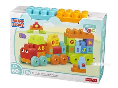 Mega Bloks Xếp khối chữ cái xe lửa -Hình ảnh vỏ ngoài