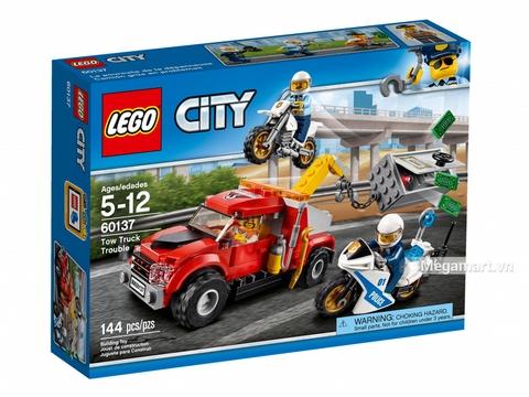 Hình ảnh vỏ hộp bộ Lego City 60137 - Xe cướp két sắt