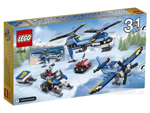 3 mô hình độc lạ trong Lego Creator 31049 - Trực Thăng Hai Cánh Quạt