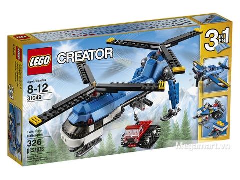 Vỏ hộp bộ Lego Creator 31049 - Trực Thăng Hai Cánh Quạt