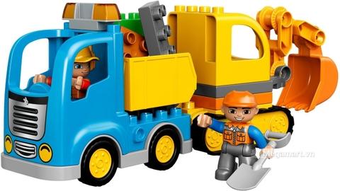 Vào vai chú công nhân xây dựng với Lego Duplo 10812 - Xe máy xúc