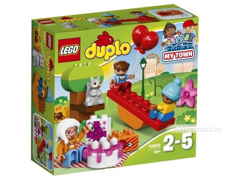 Hình ảnh vỏ hộp bộ Lego Duplo 10832 - Bữa tiệc sinh nhật ngoài trời