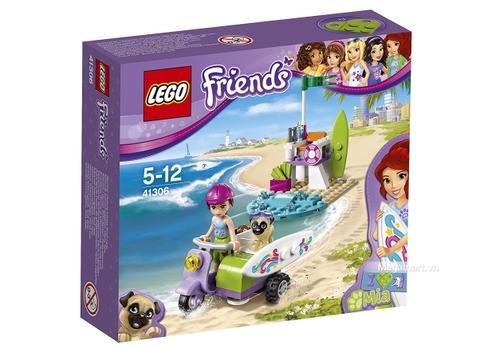 Hình ảnh vỏ hộp bộ Lego Friends 41306 - Xe máy bãi biển của Mia