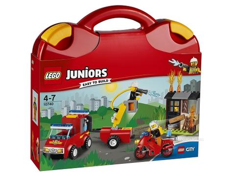 Hình ảnh vỏ hộp bộ Lego Juniors 10740 - Vali tuần tra cứu hỏa