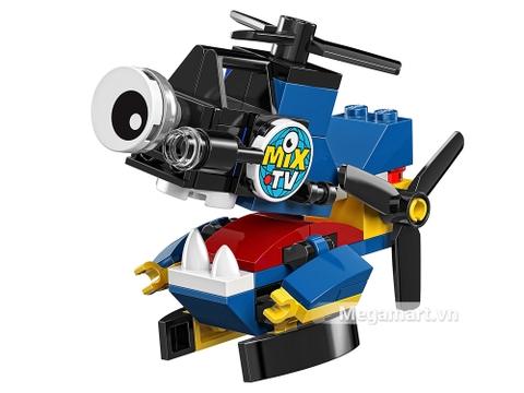 Các mô hình ấn tượng trong bộ Lego Mixels 41579 - Trực thăng đưa tin Camsta