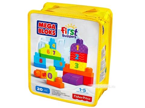 Hình ảnh vỏ hộp bộ Mega Bloks Xếp khối số đếm