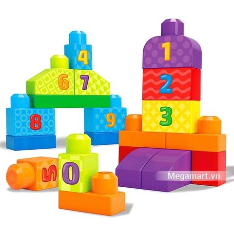 Các mô hình ấn tượng trong bộ Mega Bloks Xếp khối số đếm