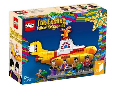 Vỏ hộp sản phẩm Lego Ideas 21306 - Tàu ngầm màu vàng của Beatles