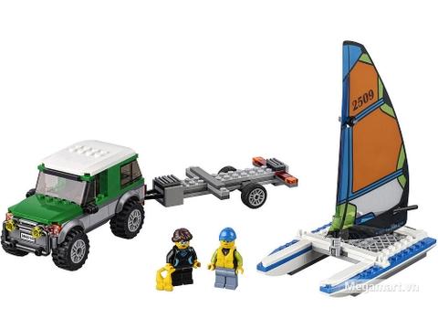 Lego City 60149 - Xe địa hình 4x4 và thuyền buồm hai thân - Các chi tiết có trong bộ xếp hình