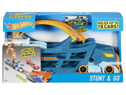 Hình ảnh vỏ hộp bộ Hot Wheels Bộ xe tải nhào lộn
