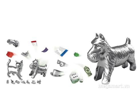 Hasbro Gaming Cờ tỷ phú Monopoly Cơ Bản - vật tượng trưng