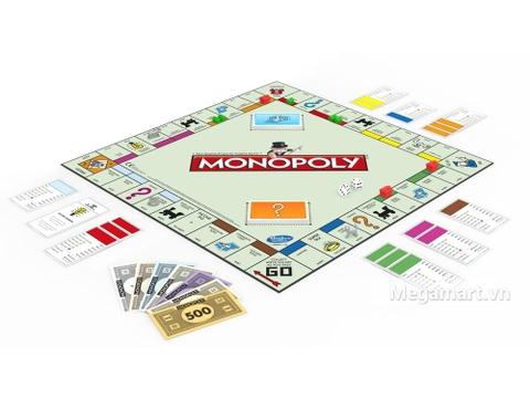 Hasbro Gaming Cờ tỷ phú Monopoly Cơ Bản - các chi tiết trong bộ đồ chơi