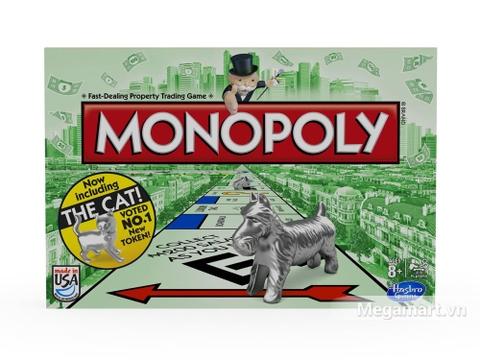 Hình ảnh vỏ hộp bộ Hasbro Gaming Cờ tỷ phú Monopoly Cơ Bản