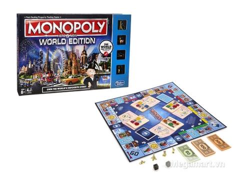 Hasbro Gaming Cờ tỷ phú Monopoly Here & Now - World Edition - bé vui chơi cùng sản phẩm