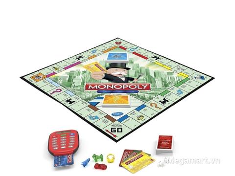 Hasbro Gaming Cờ tỷ phú Monopoly ngân hàng điện tử - cách chơi mới mẻ