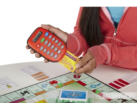 Hasbro Gaming Cờ tỷ phú Monopoly ngân hàng điện tử - bé vui chơi sản phẩm