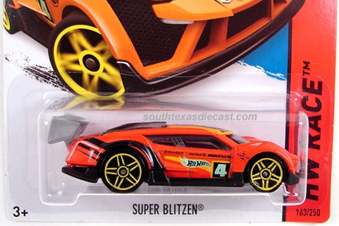 Vỏ hộp đựng mô hình xe Hot Wheels Super Blitzen