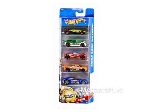Hot Wheels Bộ 5 siêu xe với 5 xe hotwheels ấn tượng