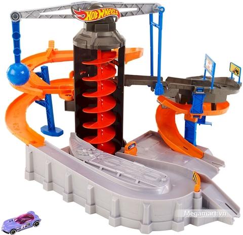 Hot Wheels Bộ đường đua thành phố trẻ em -  Hình ảnh vỏ hộp bộ Hot Wheels
