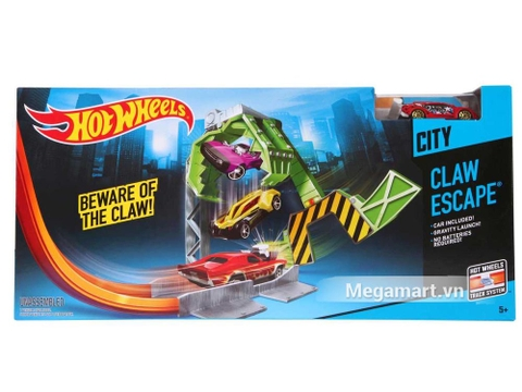 Hình ảnh vỏ hộp bộ Hot Wheels Claw Escape