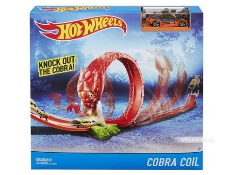 Hot Wheels Đường đua rắn hổ mang cobra DYM00 - Vỏ hộp sản phẩm