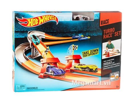 Hộp đựng thiết kế đẹp mắt của đồ chơi Hot Wheels Đường đua tăng tốc