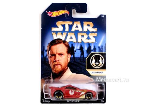 Hình ảnh Hot Wheels Star Wars Scorcher nhìn từ bên ngoài vỏ