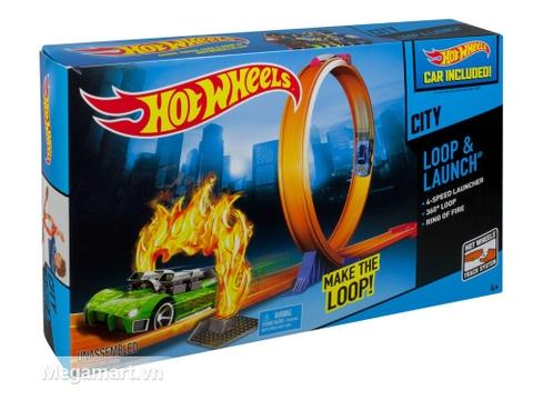 Hộp đựng Hot Wheels Vòng tròn nhào lộn
