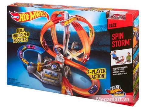 Hình ảnh vỏ hộp bộ Hot Wheels Vòng xoắn thần tốc
