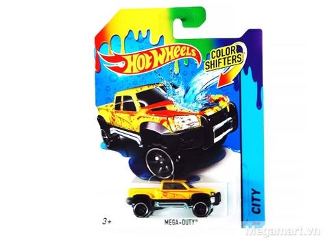 Hình ảnh vỏ hộp bộ Hot Wheels Xe đổi màu Mega-Duty Truck