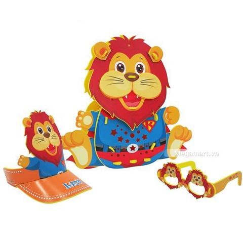 Kibu Lồng đèn sáng tạo đa năng (Động vật) - sư tử siêu nhân