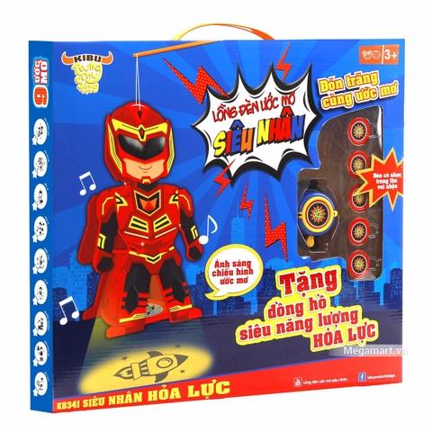 Kibu Lồng đèn ước mơ siêu nhân - Hình ảnh vỏ hộp sản phẩm
