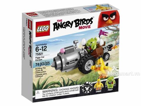 Hình ảnh vỏ hộp bộ Lego Angry Bird 75821 - Cuộc Tẩu Thoát Của Siêu Trộm